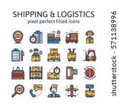 shipping   logistics   filled...   Shutterstock .eps vector #571138996