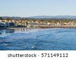 Santa Cruz Bay And Wharf At...
