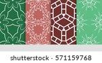 set of flower  geometric... | Shutterstock .eps vector #571159768