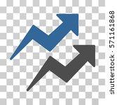 trends icon. vector... | Shutterstock .eps vector #571161868