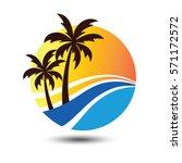 summer holidays design labels ... | Shutterstock .eps vector #571172572
