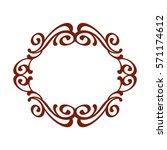 frames .vintage vector.well... | Shutterstock .eps vector #571174612