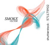 abstract colorful smoke... | Shutterstock .eps vector #571175932