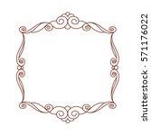 decorative frames. vintage... | Shutterstock .eps vector #571176022