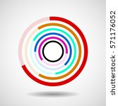 abstract circle with lines ... | Shutterstock .eps vector #571176052