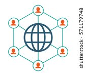 globe connected community... | Shutterstock .eps vector #571179748