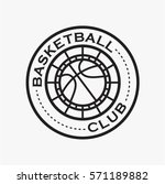 basketball club logo and badge... | Shutterstock .eps vector #571189882