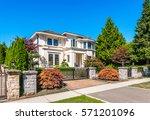 big custom made luxury house...   Shutterstock . vector #571201096