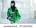 paris october 2  2015. chinese... | Shutterstock . vector #571201942