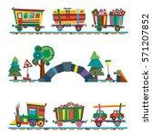 railway train station vector | Shutterstock .eps vector #571207852