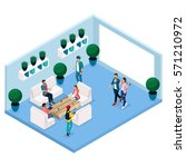 trendy isometric people and... | Shutterstock .eps vector #571210972