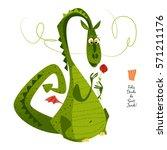 Dragon With A Flower. Diada De...