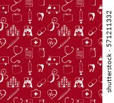 red seamless pattern medical... | Shutterstock .eps vector #571211332