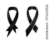 black ribbon mourning and... | Shutterstock .eps vector #571213522