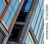 modern architecture in urban... | Shutterstock . vector #571215082