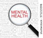 mental health. magnifying glass ... | Shutterstock . vector #571215598