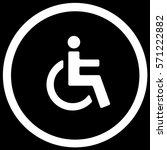 wctoilet disabled accessible... | Shutterstock .eps vector #571222882