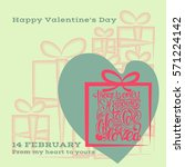 valentine's day flayer or card. ... | Shutterstock .eps vector #571224142