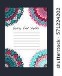 mandala vintage template card... | Shutterstock .eps vector #571224202