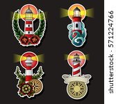 vector lighthouses set... | Shutterstock .eps vector #571224766