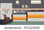 hospital reception illustration | Shutterstock .eps vector #571225435