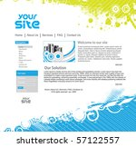 abstract business web site... | Shutterstock .eps vector #57122557