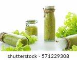 mix green fruit and vegetable... | Shutterstock . vector #571229308