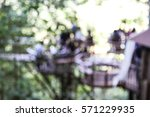 blurred many people relaxing at ... | Shutterstock . vector #571229935