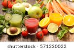 fruit and vegetable juice | Shutterstock . vector #571230022