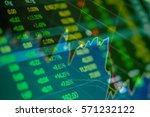 stock exchange board background | Shutterstock . vector #571232122