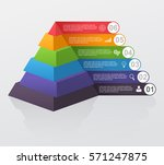 infographic multilevel pyramid... | Shutterstock .eps vector #571247875
