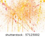 splashes of color - stock photo