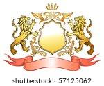 golden lion shield insignia | Shutterstock .eps vector #57125062