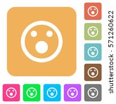 shocked emoticon flat icons on... | Shutterstock .eps vector #571260622