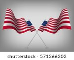 united states waving shaded... | Shutterstock .eps vector #571266202