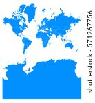 world antarctica blue map | Shutterstock .eps vector #571267756