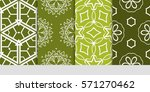 set of color floral  linear... | Shutterstock .eps vector #571270462