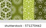 set of color floral  linear...   Shutterstock .eps vector #571270462