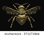 realistic sketch of insect  ... | Shutterstock .eps vector #571271866