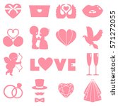 vector set of happy wedding and ... | Shutterstock .eps vector #571272055