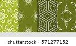 set of flower  geometric... | Shutterstock .eps vector #571277152