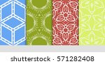 set of seamless floral...   Shutterstock .eps vector #571282408