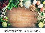 Asian Cuisine Ingredients Food...