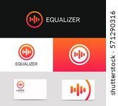 abstract music voice icon audio ... | Shutterstock .eps vector #571290316