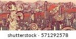 hong kong. china. beautiful... | Shutterstock .eps vector #571292578
