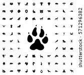 animal paw icon illustration... | Shutterstock .eps vector #571296382