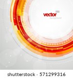 abstract futuristic red circles.... | Shutterstock .eps vector #571299316