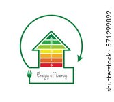 energy efficient house concept... | Shutterstock .eps vector #571299892
