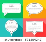 colorful speech bubbles as... | Shutterstock .eps vector #571304242