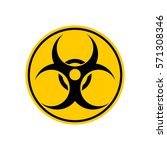 biohazard sign. warning... | Shutterstock .eps vector #571308346